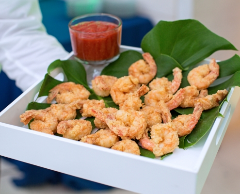 tray of fried shrimp