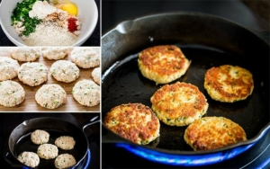 easy crab cakes collage1